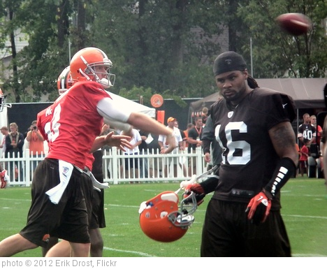 'Brandon Weeden and Josh Cribbs' photo (c) 2012, Erik Drost - license: http://creativecommons.org/licenses/by/2.0/