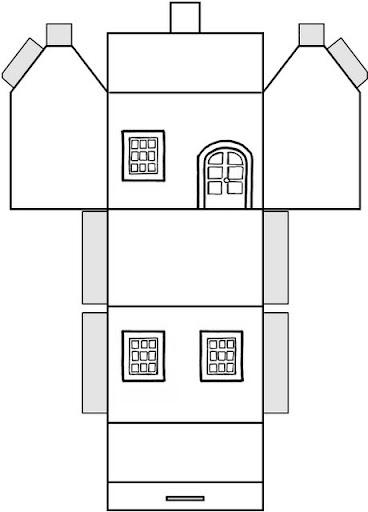 Hacer y colorear casitas de papel - Formas de pintar una casa ...