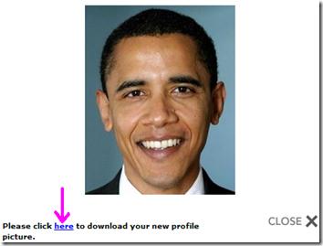 Mypictr foto tagliata da scaricare nel PC