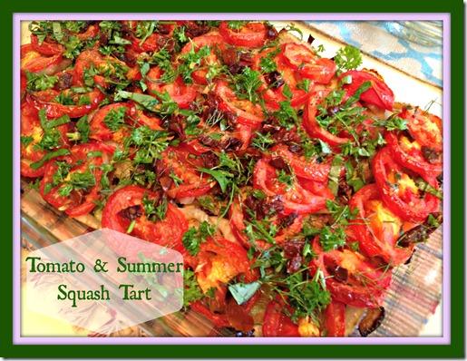 tomato squash tart