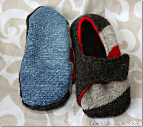 Slippers From Sweater and Blue Jeans