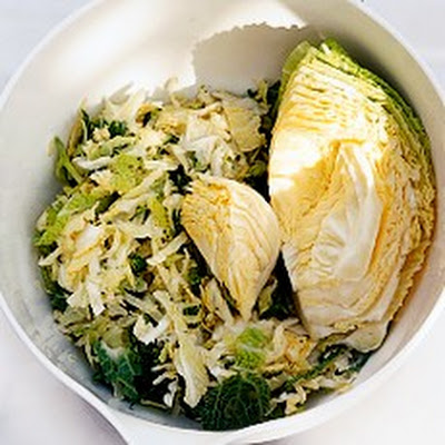 Stuffed Cabbage Leaves with Toasted Pistachios and Pine Nuts