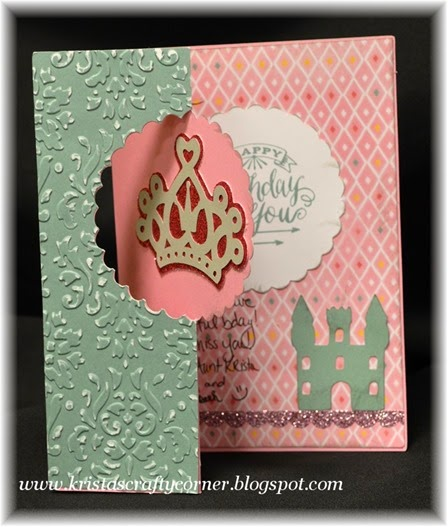 Artfully Sent_crown_princess castle_swing card