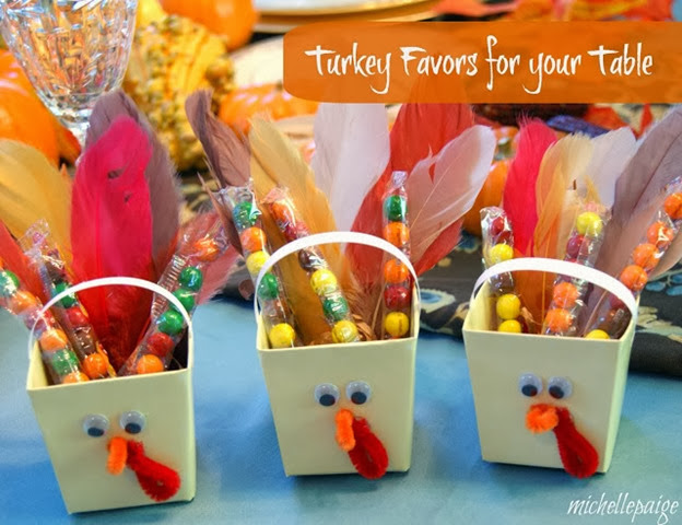 turkey favors for your table
