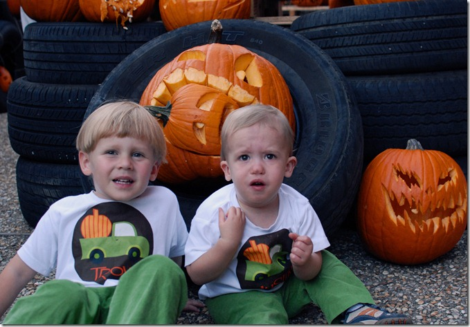 boys at pumpkin carve