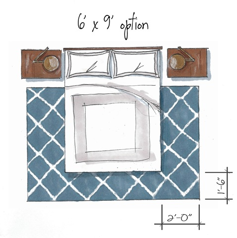 How to choose the right size rugEveryday Design Dilemma   What size rug do I need    Interiors By  . Right Size Rug For King Bed. Home Design Ideas