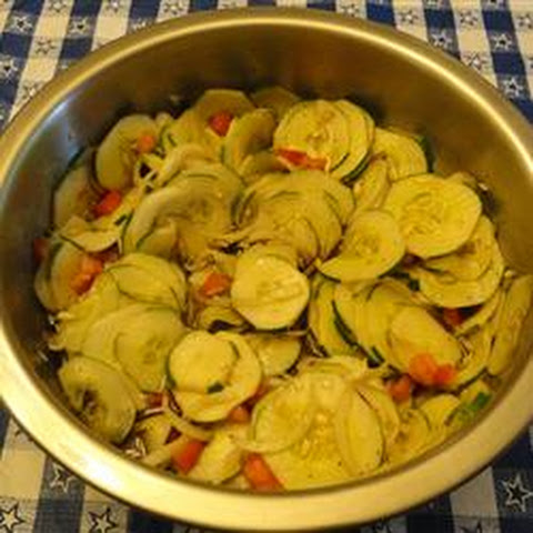Floating Cucumber, Tomato, and Onion Salad
