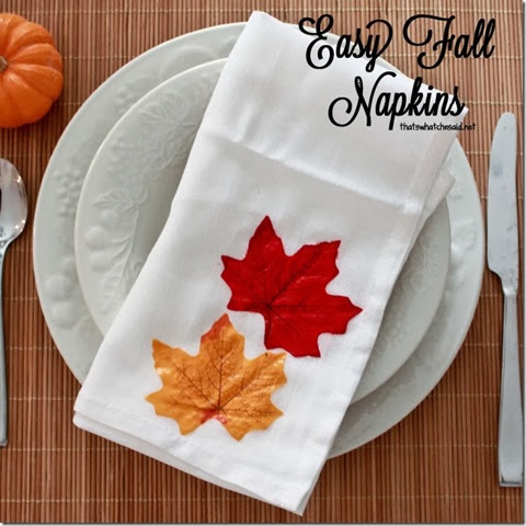 fall napkins at that'swhatchesaid.net