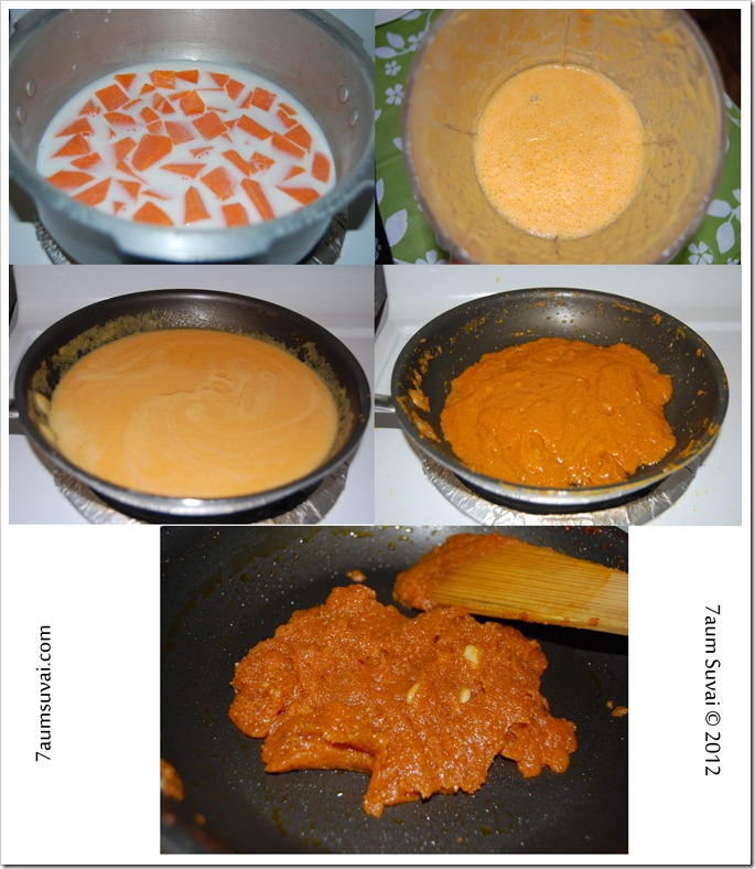 Pumpkin halwa Process