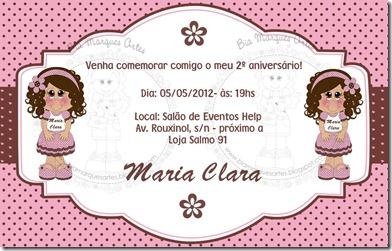 convite Maria Clara