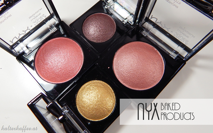 NYX baked eyeshadows blushes