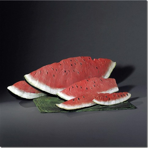 Julio Larraz -Watermelon Slices