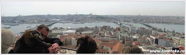 Вид с Галатской башни на Эминеню, мосты и историческую часть города