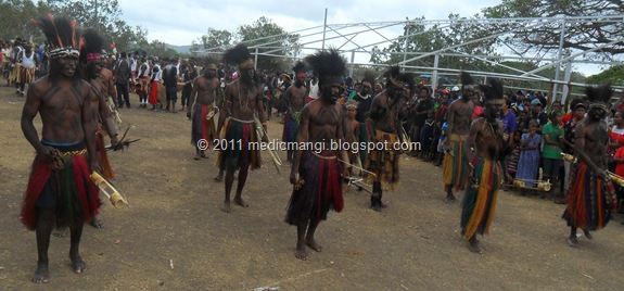 Male Pahoturi dancers from Western Province, Papua New Guinea