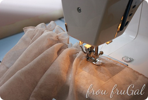 Using Sewing Machine to Gather Fabric