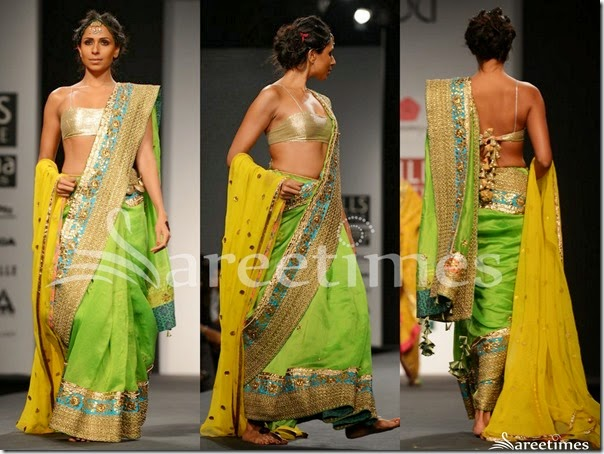 Anupama_Dayal_Green_Saree