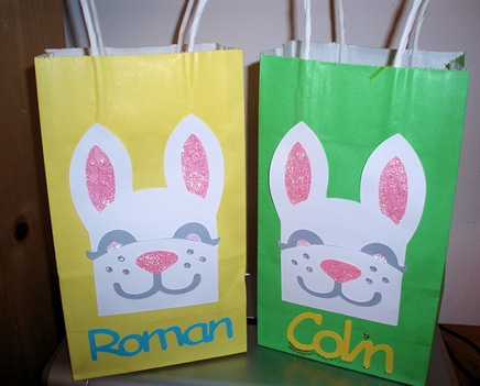 Roman and Colin Easter Bags