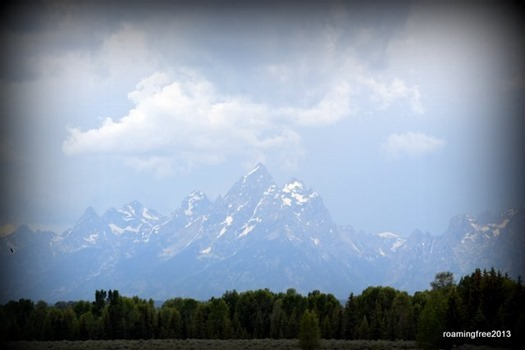 Storm clouds over Grand Teton