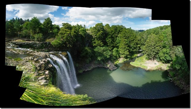 whangarei falls autostiched panorama