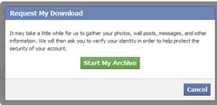 การ backup ข้อมูลใน facebook