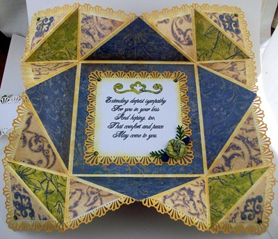 With Deepest Sympathy Napkin Fold Card1