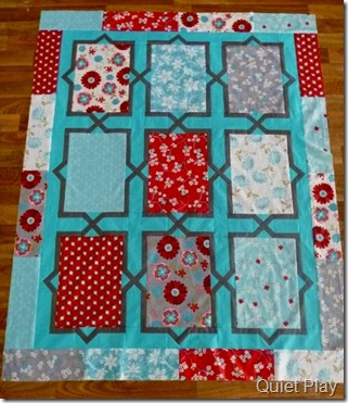 Seaside Cottage Spanish Tiles quilt with borders
