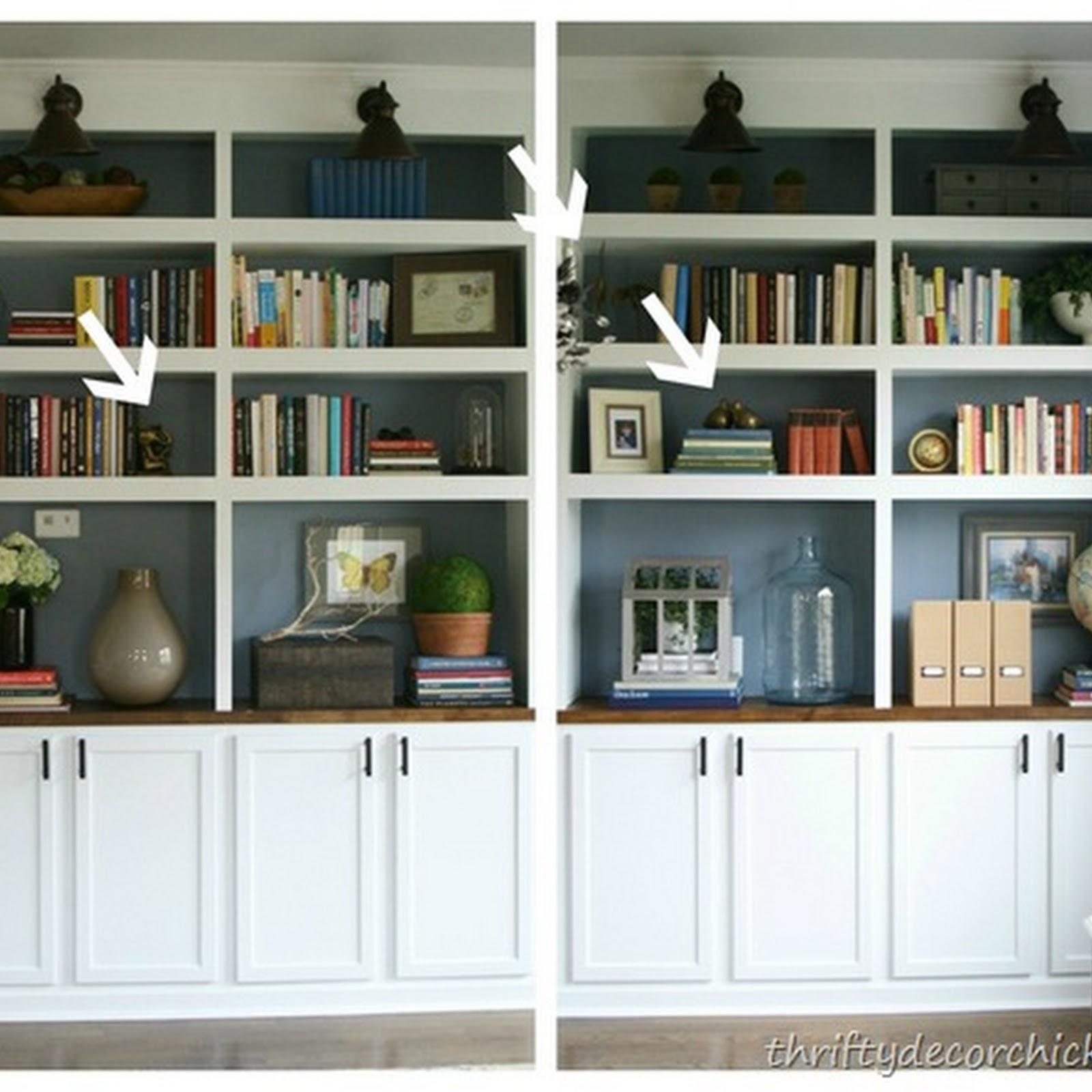 Five simple tips for decorating bookcases