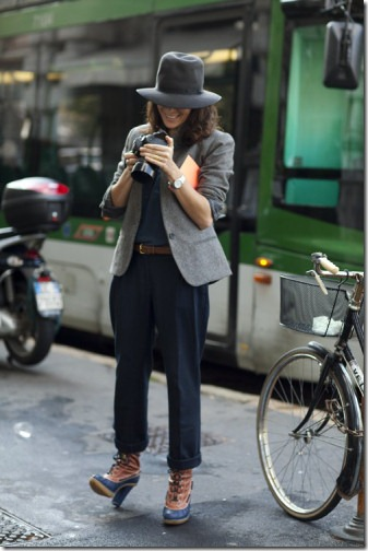 photo of garance dore taken by the sartorialist
