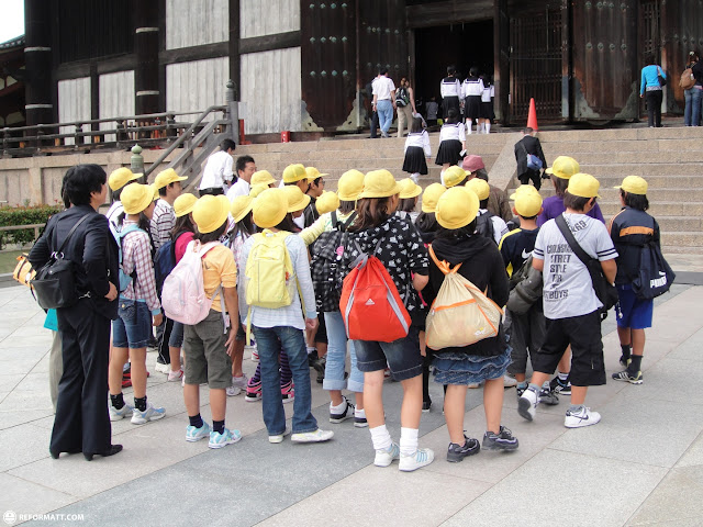 schoolkids in Nara, Osaka, Japan