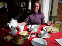 Having Welsh tea in Trevelin, Argentina.