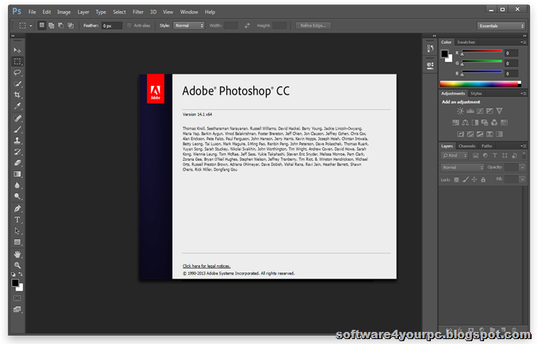 Photoshop CC Interface
