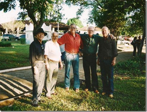 Adão, Barbeirinho, Tião Camargo, João Mendes e Patriarca - Marilândia