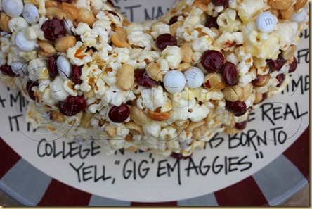 Aggie Popcorn Cake Gig 'Em copyright