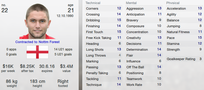 Henri Lansbury in Football Manager 2013