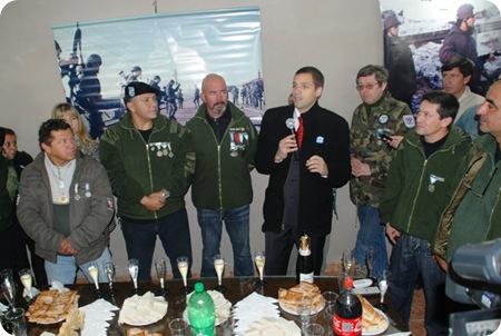Juan Pablo de Jesús y Veteranos de Guerra inauguraron primeras instalaciones de Museo de Malvinas.