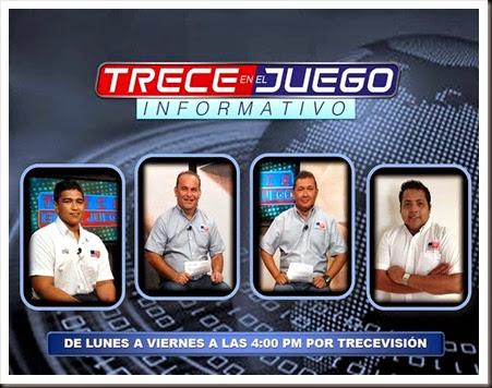 Banner Trece en el Juego Informativo