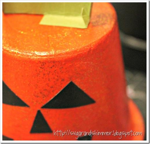 Halloween Painted Pot - Pumpkin