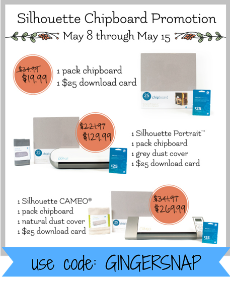 Silhouette Promotion for May 2013 #silhouette #cameo
