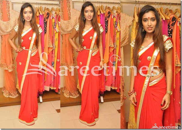 Red_Georgette_Saree