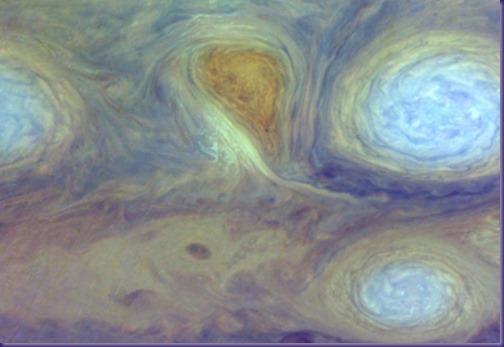 Jupiter's red spot close up