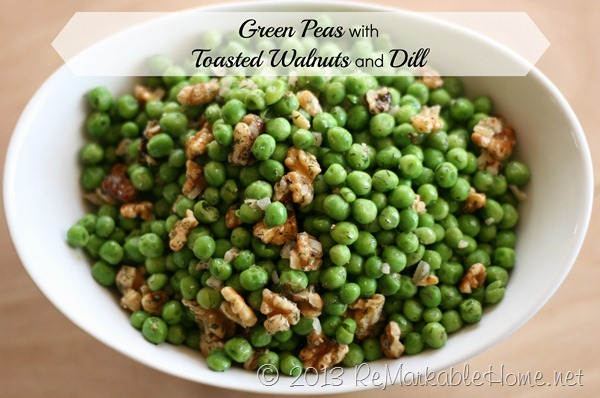 Green Peas with Toasted Walnuts and Dill {Recipe}