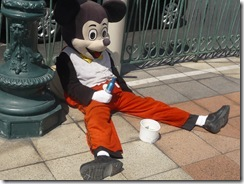 Poor Mickey one 2 many beers