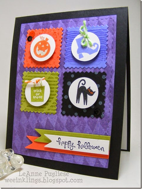 LeAnne Pugliese WeeInklings ColourQ265 Spooky Bingo Bits Halloween Stampin Up
