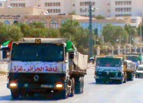 Le convoi humanitaire algérien pour Ghaza refoulé par les autorités égyptiennes à Rafah