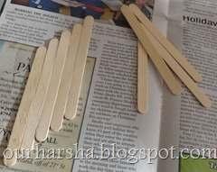 Popsicle sticks or Ice cream sticks Frame  (2)