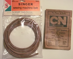 VS Singer sewing machine 2 treadle belt
