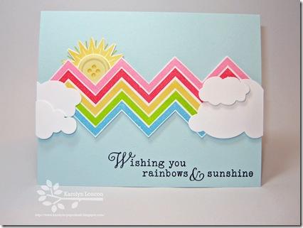 Wishing you Sunshine & Rainbows Edited