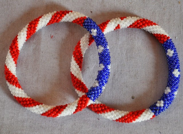 Bracelets USA Flag Design