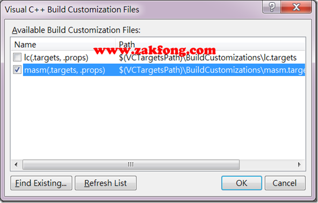 201201117-3-MASM-如何使用Visual Studio 2012開發組合語言-W