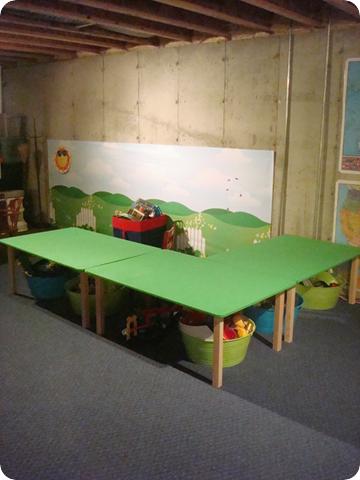 playroom unfinished basement